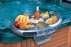 The Inflatable Spa Bar is a unique Christmas gift for the ultimate relaxation in the hot tub!