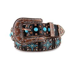 Angel Ranch Women's Turquoise Concho Gator Embossed Belt