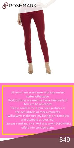 Michael Kors Izzy Zipper Pocket Skinny Jeans Michael Kors: Offers strong style, color and quality for the jet-set wardrobe. Statement handbags, wallets and accessories round out the full line of luxury products. This MICHAEL Michael Kors Colored Skinny Jeans is guaranteed authentic. It's crafted with 98% Cotton/2% Elastane. Michael Kors Jeans Skinny