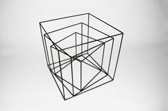 Cube Frame - Set of 3 - to - Black - Handmade Geometric Steel Wire Frame - PrimeFrame Metal Sculpture - Crosstree Seed Products Instalation Art, Cube Design, Steel Sculpture, Wire Art, Geometric Shapes, Metal Art, Handmade, Wire Frame, Tattoo Chair