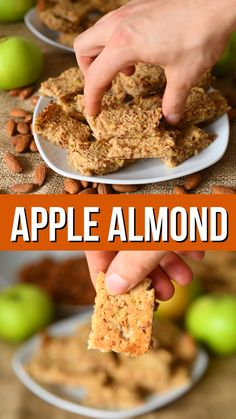 Recipes Snacks Bars 3 ingredient apple almond breakfast bars are easy to make, filling and loaded with goodness. You can use gluten free oats if you're sensitive to gluten. Full of plant protein and a few is a perfect healthy breakfast on the go Breakfast Bars Healthy, Breakfast Cookies, Healthy Snacks, Breakfast Recipes, Apple Breakfast, Breakfast Ideas, Healthy Breakfasts, Free Breakfast, Breakfast Casserole