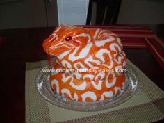 Homemade  Burmese Python Snake Cake: Okay, so let me say first that I am the Dad writing this and not familiar with cake lingo so please excuse any improper terms.  My wife and my mother-in-law