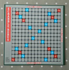 Scrabble Rebus Game BOARD ONLY, Spare Game Pieces, Crafts, Wall Art, Upcycle