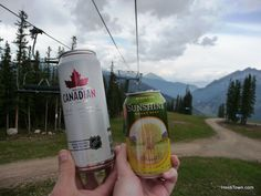 #Beer on the chairlift at @Copper Mountain. #Colorado #travel More: http://www.heiditown.com/2013/07/17/jazz-and-romance-at-copper-mountain/