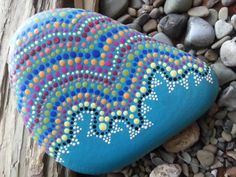 Dot Painted Stone/TheLakeshoreStore/Painted Stones/Painted Rocks/Decorative Stones/Terrarium/Lake Erie