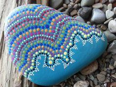 Dot Painted Stone/TheLakeshoreStore/Painted Stones/Painted Rocks/Decorative Stones/Terrarium/Lake Erie