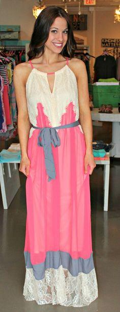 Dottie Couture Boutique - Lace Trim Maxi , $60.00 (http://www.dottiecouture.com/copy-of-lace-trim-maxi/)
