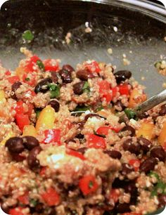 Southwestern Quinoa Salad - I would add some chopped rotisserie chicken to this!