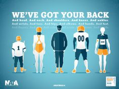 National Athletic Training Month 2014 Poster   produced by Bates Creative for the National Athletic Trainers' Association. Follow the link for a free download of the poster.