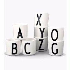 Design Letters Alphabet Melamine Cup (Pre Order)