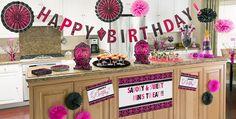 Black & Pink Birthday Party Supplies