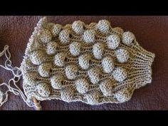 Ζακέτα με φουσκωτά μπαλάκια στα μανίκια! Με βελόνες! - YouTube Knitting Videos, Crochet Videos, Knitting Stitches, Baby Knitting, Crochet Baby, Knit Crochet, Baby Diy Projects, Yarn Projects, Knitting Designs