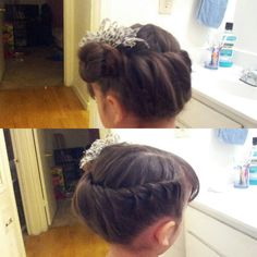 side twist into bun <3