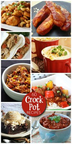 60 Best Crock Pot Recipes #SlowCooker #CrockPot #Recipes