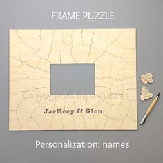 Wedding guestbook puzzle FRAME wood By Bella Puzzles