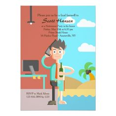 Shop Retirement Now Party Invitation created by PixiePrints. Retirement Party Invitations, Retirement Parties, Early Retirement, Retirement Pictures, Scott Hansen, Rsvp, 3d Printing, Custom Design, Student