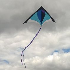 """NEVER BUY A TERRIBLE KITE AGAIN! Top Quality, hi-tech materials are used throughout. Unlike others, our kite is tough, strong, light, flexible, rust-proof, and mold-proof. Hand-made by the World's Best kite factory, it will last forever ... KIDS JUST CAN'T BREAK IT!! Ships from USA and EVERYTHING INCLUDED: Single-line Delta Kite measuring 60"""" (150cm) Wide x 32"""" (80cm) Long with 8.5ft (2.6m) Twin Tails, 200ft (60m) anti-tangle Flying Line on Handle, Assembly and How-To-Fly Instructions…"""