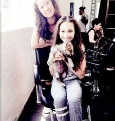 Maddie with an animal! Not sure what it is?? Credit ♥Dancemoms luver♥