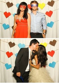 Photo booths are a great way to get your guests involved and leave them with a memory from the day, whether it be a favour or just a place to frolic with some props and get some seriously fun footage! If you don't want to rent a booth, you can opt for a DIY style photo wall. We have rounded up 11 fun backdrops that would work a treat...