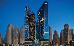 Télécharger fonds d'écran Rixos Premium Hotel, 4k, les paysages nocturnes, Dubaï, ÉMIRATS arabes unis