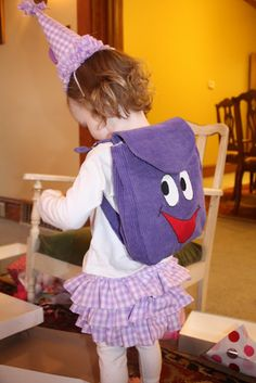 At Second Street: Backpack tutorial and Pattern - I used some of this pattern to make Backpack for my 2 yr old.  I actually used felt ($.23 per sheet and I only needed 5).  Very cheap, turned out very cute, and she LOVES it!
