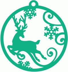 Reindeer stencil