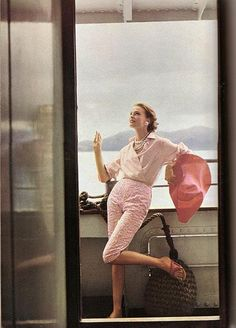 Vogue, May 1955, Henry Clarke #Vintage #Fashion #Chic