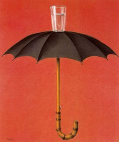 """""""Hegel's Holiday"""", Rene Magritte (1958). """"This painting is such a contradicion. And I can relate very well to this because at times I feel like my life, in gerneral is a contradiction."""" -Candace Sykes, Assistant Director of Public Relations"""