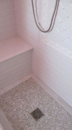 Traditional Bathroom Tile...everything but that framed thing on the wall