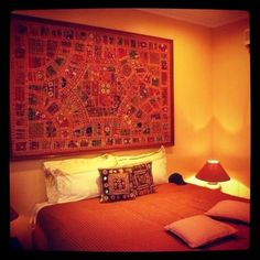 Click photo to read my blog post on Tempat Sanang Resort, Batam. Our Indian Themed Room at Tempat Sanang Resort.