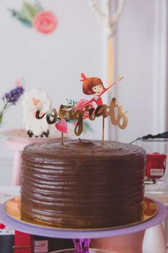 Don't miss this impressive Lola Dutch in Paris birthday party! The cake is so pretty! See more party ideas and share yours at CatchMyParty.com