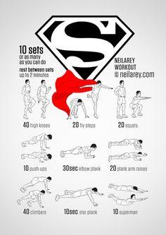 Train Like a Superhero|Neila Rey ~ Superman workout