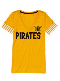 Victoria's Secret Pink Pittsburgh Pirates V-Neck Tee. Want so bad!!! $32.50