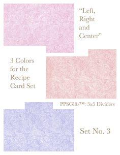 Plush Possum Studio: Recipe Card Divider Set