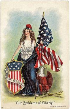It's About Time: Lady Liberty Postcards celebrating National Holidays