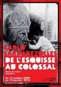 """ Carlo Sarrabezolles"" . Affiche Decaux, Théo Guillard."