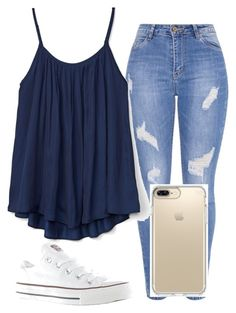 """""""School"""" by lauren-e-watford on Polyvore featuring Gap, Converse and Speck"""