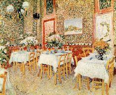 interior of a restaurant - Vincent Van Gogh