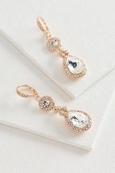 Versona rhinestone drop earrings #Versona
