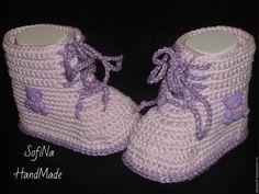 Купить Мастер - класс по вязанию пинеток ботиночек №4 - комбинированный, МК, мастер-класс