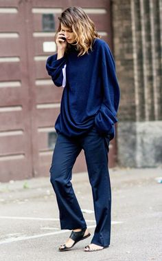 Navy on navy street style