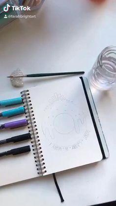 Cute Doodle Art, Doodle Art Designs, Doodle Art Drawing, Art Drawings Sketches Simple, Pencil Art Drawings, Instruções Origami, Mandala Art Lesson, Doodle Art Journals, Diy Canvas Art