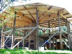 Post and beam framework for cordwood construction