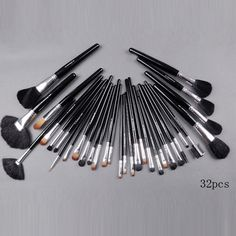 best mac 32 pieces brush set with black pouch makeup : Sale Mac Cosmetics Online Shop