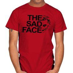 THE SAD FACE T-Shirt - Joker T-Shirt is $14 today at Ript! Joker T Shirt, Batman Stuff, Sad Faces, Dc Comics, Mens Tops, Shirts, Dress Shirts, Shirt