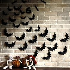 halloween wall decor bats swarm bats swarming on the wall is a quick easy paper craft it transforms your wall home instantly for a spooky halloween