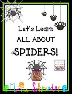 Tons of great ideas for teaching about spiders...the life cycle is too cool!