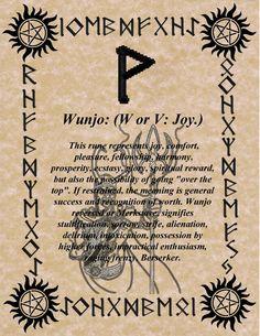 Wunjo - first letter of my bindrune