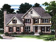 New American House Plan with 2756 Square Feet and 5 Bedrooms from Dream Home Source | House Plan Code DHSW15663