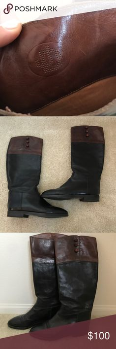 Vintage Ann Taylor Genuine Leather Boots Excellent condition, genuine leather. Bought from Ann Taylor store in the mid 80s! Ann Taylor Shoes Heeled Boots